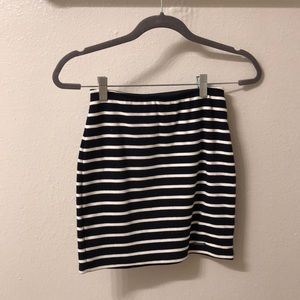 Abercrombie & Fitch Navy Striped Skirt